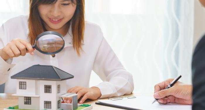 Condo buyer inspecting unit